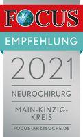 FOCUS Empfehlung 2021 - Neurochirgie Main-Kinzig-Kreis