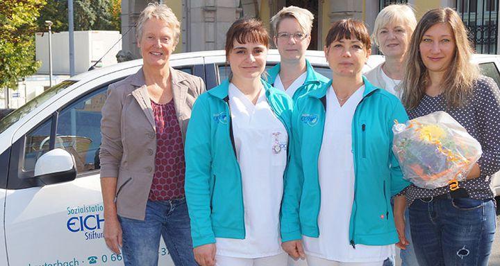 Startschuss für eine neue Karriere: Aus- und Weiterbildung sichert Nachwuchs der Sozialstation Eichhof