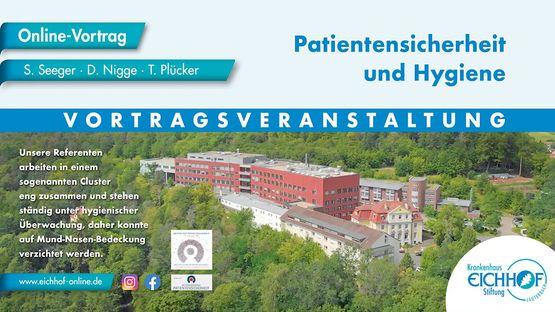 """Eichhof-Vortragsreihe """"Treffpunkt Gesundheit"""" online - Thema: Patientensicherheit und Hygiene"""