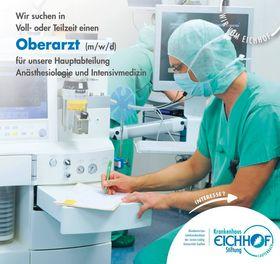 Oberarzt (m/w/d) für unsere Hauptabteilung Anästhesiologie und Intensivmedizin