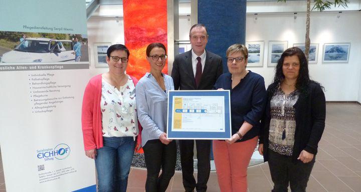 Mobiler Pflegedienst der Eichhof-Stiftung Lauterbach erreicht bei MDK-Prüfung durchweg die Bestnote.