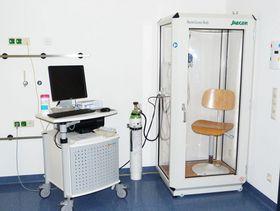 Für die Lungenfunktionsdiagnostik steht ein eigener Funktionsraum zur Verfügung.