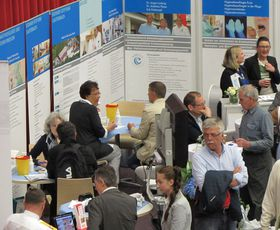 Besucher des Gesundheitstages in Fulda.