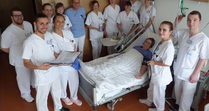 Krankenpflegeschüler leiteten Station am Krankenhaus Eichhof in Lauterbach.