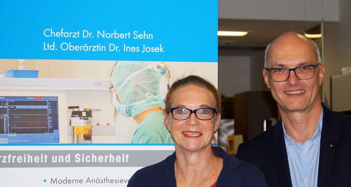 Chefarzt Dr. Norbert Sehn und Oberärztin Anett Helbig