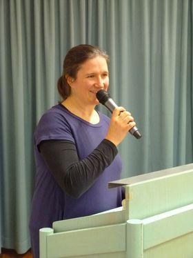 Die evangelische Pfarrerin Luise Berroth hielt eine bedächtige Andacht.
