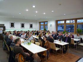 Voll besetzt war die Cafeteria am Krankenhaus Eichhof.