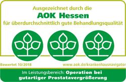 AOK Hessen Auszeichnung im Leistungsbereich: Operation bei gutartiger Prostatavergrößerung