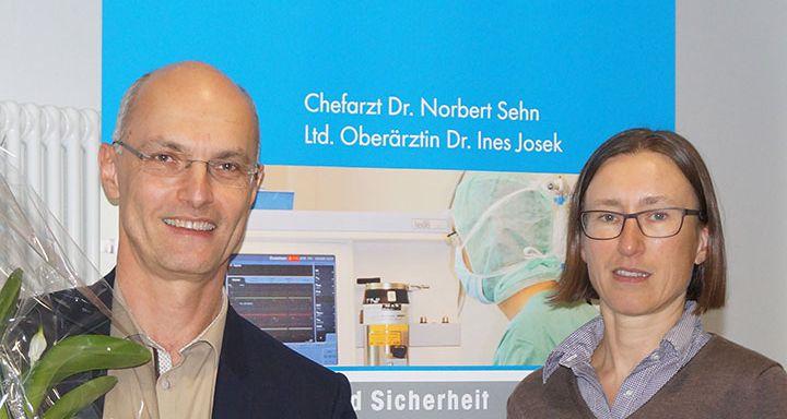 Chefarzt Dr. Norbert Sehn und die Leitende Oberärztin Dr. Ines Josek stehen einem Team vor, das mit besonderer fachlicher Kompetenz vielen Menschen das Leben rettet.