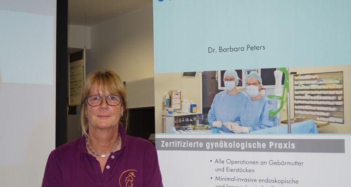 Dr. Barbara Peters nahm sich viel Zeit, auf die Fragen aus dem Auditorium zu antworten.