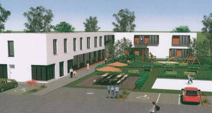 Zeichnung Familien- und Jugendhilfezentrum. Darstellung: architekturbüro tzschoppe
