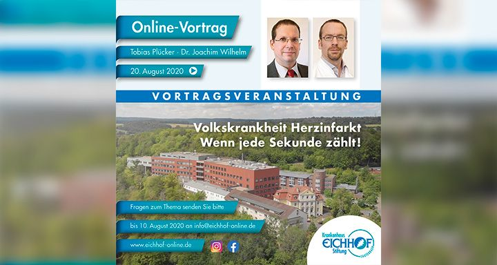 """Das Krankenhaus Eichhof nimmt ab August die Vortragsreihe """"Treffpunkt Gesundheit"""" wieder auf."""