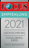 FOCUS Empfehlung 2021 - Gefäßchirurgie