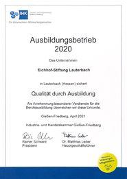 Eichhof-Stiftung Lauterbach - Ausbildungsbetrieb 2020