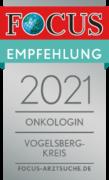 FOCUS Empfehlung 2021 - Onkologin Vogelsbergkreis
