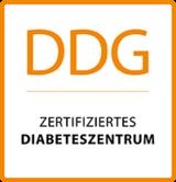 Logo: DDG - Zertifiziertes Diabeteszentrum