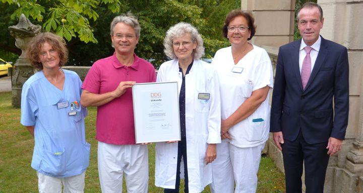 Das Diabetes-Team mit (von links) Dr. Christine Kimpel, Dr. Johannes Roth, Inge Eisenbach und Heike Stiebing