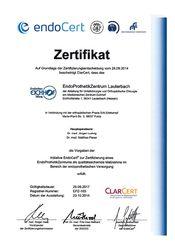 Zertifikat EndoProthetikZentrum