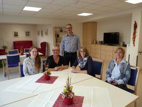Das Team der neuen Tagespflege im Seniorenzentrum Schlitzerland um Heimleiter Klaus Schaefer (von rechts): Karin Vollmöller, Manuela Traud, Tatjana Rinke und Sarah Becker.