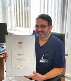 Mohanad Nasif, Chefarzt der Gefäßchirurgie/Interventionelle Radiologie am Krankenhaus Eichhof in Lauterbach