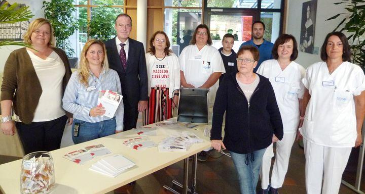 Mitarbeiter, Patienten und Besucher wurden am Welttag der Patientensicherheit von den Fachkräften beraten