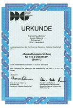Urkunde - Assoziierter Arzt der Deutschen Leberstiftung 2011