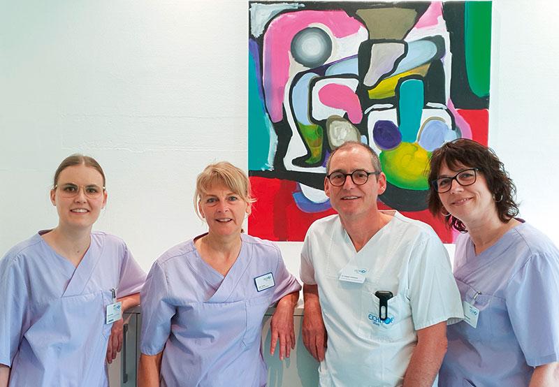 Allgemein- / Viszeralchirurgische Ambulanz: Isolde Apel (links) und Heidi Hildebrandt (rechts)
