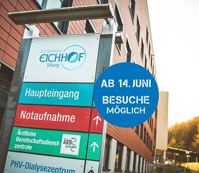 Krankenhaus Eichhof öffnet ab 14.06.2021 wieder für Besucher